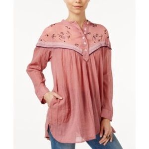 Free people hearts and colors tunic